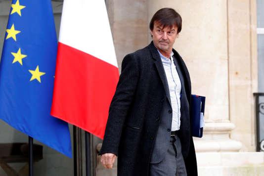 Nicolas Hulot à l'Elysée, le 17 janvier.