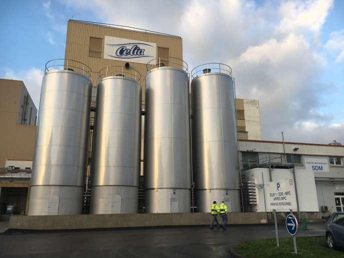 L'usine avait arrêté la production des laits en poudre et des produits infantiles le 8décembre – ici, l'usine de Craon, en Mayenne.