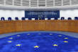 The European flag's stars are seen on the floor of a hearing room prior to a Grand Chamber hearing in the case of former Prime Minister of Italy Silvio Berlusconi, at the European Court of Human Rights (ECHR) in Strasbourg, eastern France, on November 22, 2017. Ahead of a general election set for the spring, the four-time premier is hoping the court will rule against the six-year ban imposed over his 2012 conviction for tax fraud. / AFP PHOTO / FREDERICK FLORIN