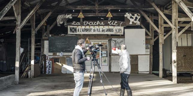 Au sein de la « zone à défendre» de Notre-Dames-des-Landes (Loire-Atlantique), mercredi 17 janvier.