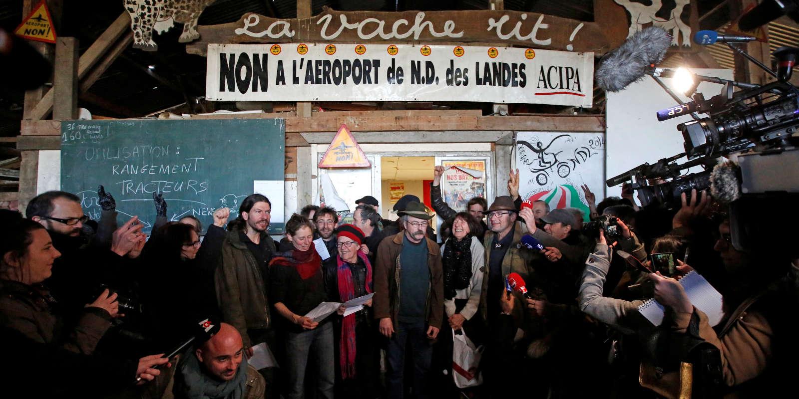 A Notre-Dame-des-Landes, le 17 janvier.