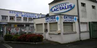 Le siège du groupe industriel Lactalis à Laval (Mayenne), en janvier.