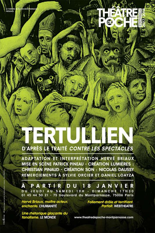 Détail de l'affiche du spectacle« Tertullien».