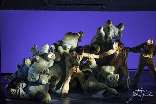 Une scène du spectacle« Paysages intérieurs».
