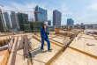 Un chantier de construction d'immeubles résidentiels à Huzhou, en Chine, en juillet 2017.