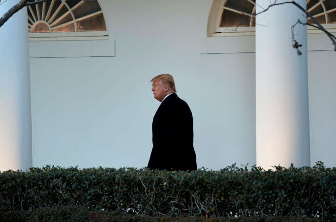 Donald Trump à la Maison Blanche, jeudi 18 janvier 2017.