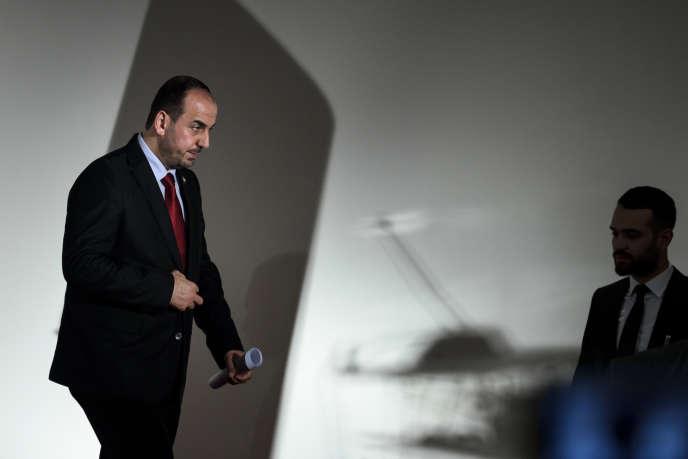 L'opposant syrien Nasser Hariri, le 27 novembre 2017 à Genève.