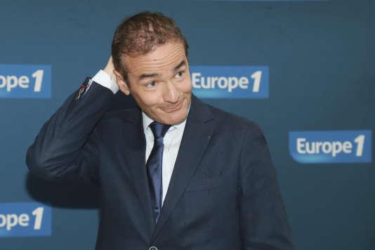 Le journaliste d'Europe 1 Franck Ferrand, à Paris, le 12 septembre 2017.