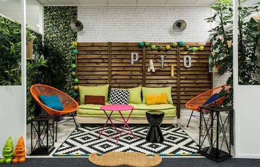 Un des espaces conviviaux aménagés à chaque étage des sites d'Ubisoft à Montreuil, où les salariés peuvent faire une pause ou organiser une réunion avec quelques collègues.