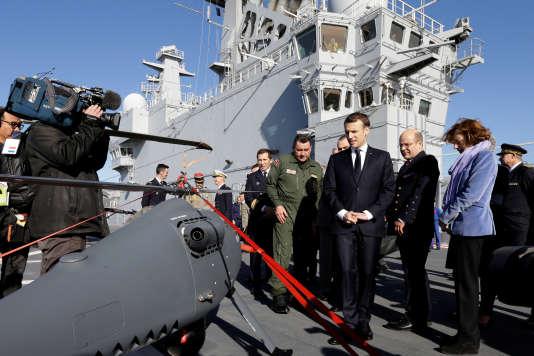 Emmanuel Macron lors de ses vœux aux armées le 19 janvier 2018.