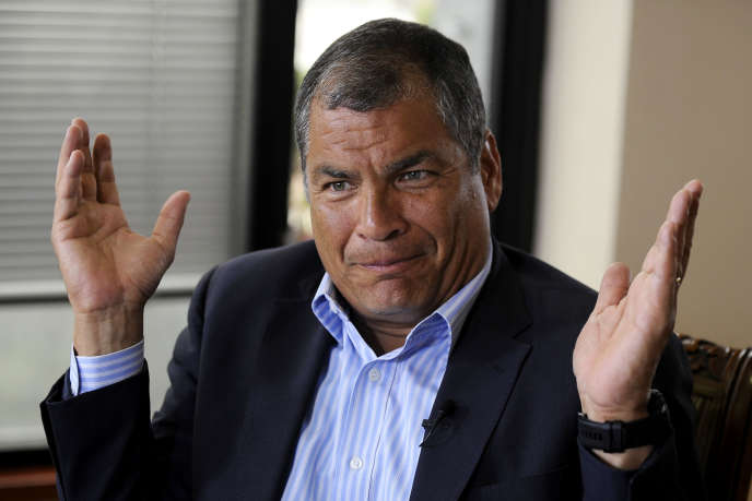 Rafael Correa, lors d'une interview à Quito le 19 janvier. Il a depuis déménagé enBelgique.