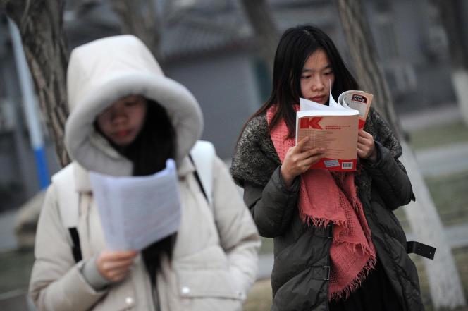 A l'université de Pékin, en 2014.