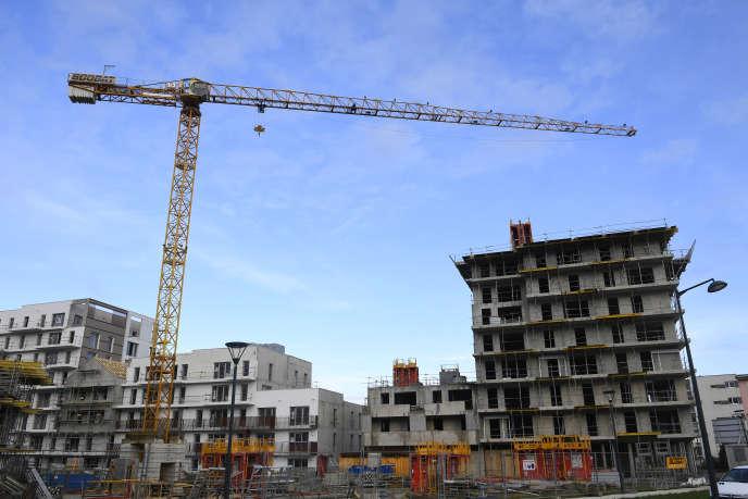 Construction d'immeubles à Rennes, le 28 décembre 2017.