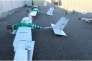 Six des 13 drones responsables des attaques du 6 janvier.