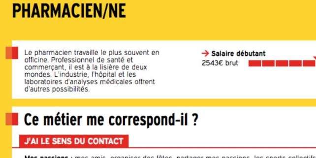 Sur le site de Onisep, profession pharmacien.ne.