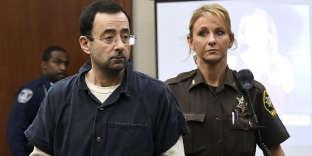 L'ancien médecin-ostéopathe des gymnastes américaines, Larry Nassar, au tribunal de Lansing, la capitale de l'Etat du Michigan, le 18 janvier.