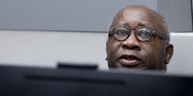 L'ancien président ivoirien Laurent Gbagbo, lors de son procès à la Cour pénale internationale, à La Haye, en janvier 2016.