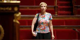 La députée Clémentine Autain à l'Assemblée nationale à Paris, le 19 juillet 2017.