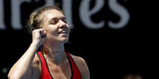 Simona Halep, lors de l'Open d'Australie, le 20 janvier 2018.