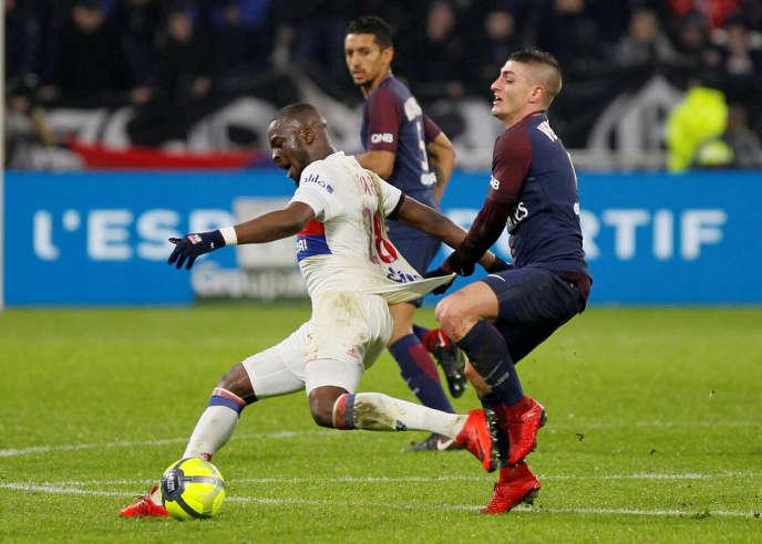 Tanguy Ndombele a fait souffrir le milieu de terrain parisien hier soir en Ligue 1.