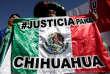 Lors de la « Marche de la dignité», près de Ciudad Juarez, dans l'Etat de Chihuahua (Mexique), le 20 janvier.
