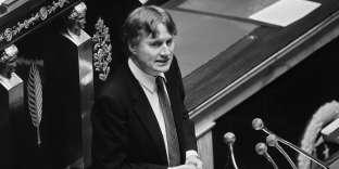 Alain Devaquet à l'Assemblée nationale,en 1986.
