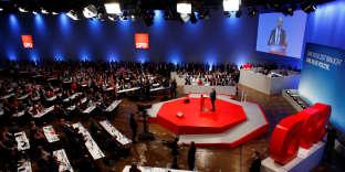 Au congrès du SPD, le 21 janvier.