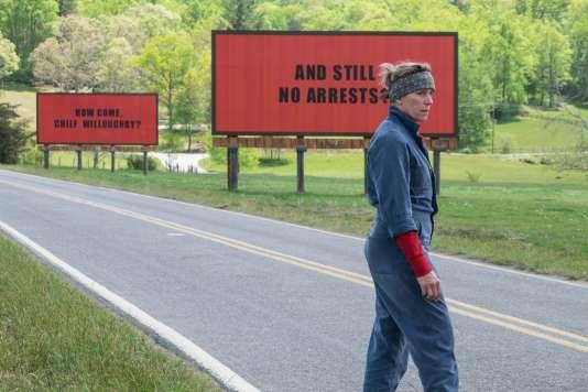 Frances McDormand dans « 3 billboards : les panneaux de la vengeance» réalisé par Martin McDonagh.