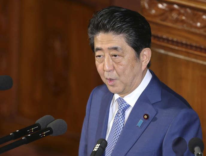 Shinzo Abe, le premier ministre japonais, à Tokyo, le 22 janvier.
