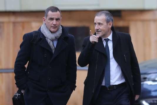 Gilles Simeoni et Jean-Guy Talamoni à leur arrivé à l'hôtel Matignon, le 22 janvier.