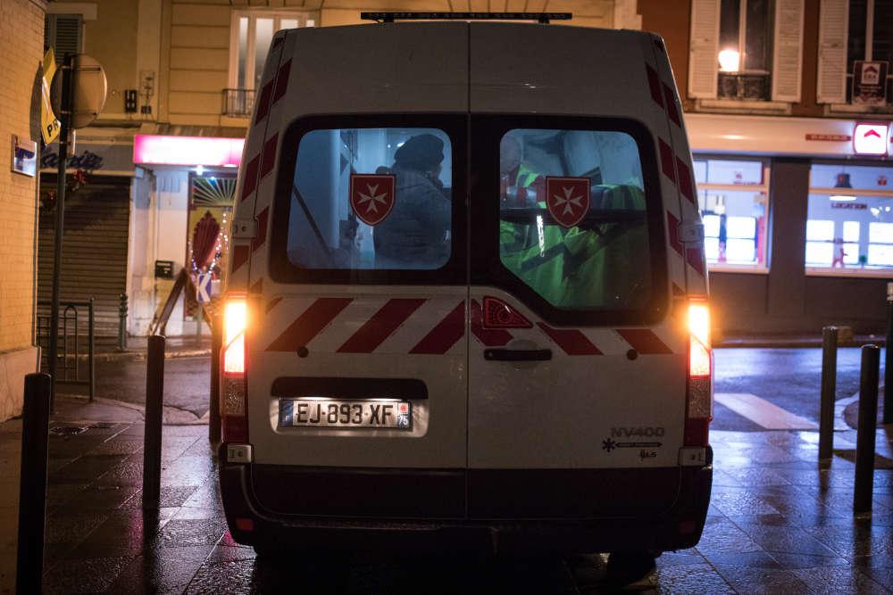 Le camion médicalisé de l'Ordre de Malte.
