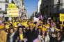 Marche contre l'endométriose, à la suite de l'appel des associations, le 25 mars 2017, à Paris.