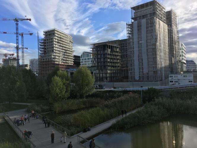 Immeubles en construction dans le 17e arrondissement de Paris.