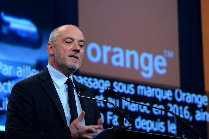 Stéphane Richard, PDG d'Orange, lors d'une assemblée générale du groupele 1er juin, à Paris.