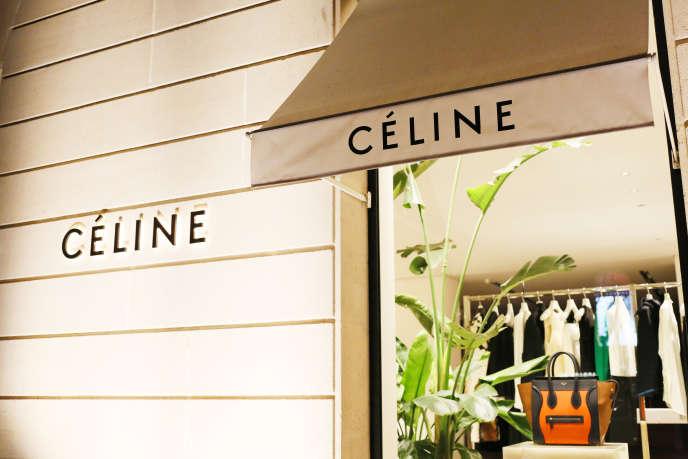 Le magasin Céline de l'avenue Montaigne, à Paris.