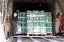 Un avion cargo saoudien chargé d'aide humanitaire, à Marib, au Yémen, le 22 janvier.