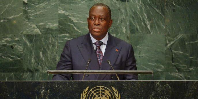Manuel Vicente à l'ONU, à New York, le 22 septembre 2016.