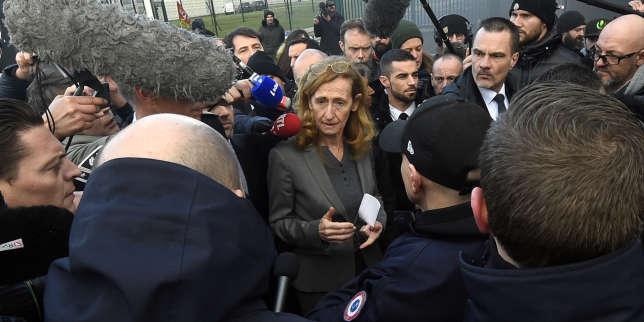 La garde des sceaux, Nicole Belloubet, après sa visite à la prison de Vendin-le-Vieil (Pas-de-Calais), le 16 janvier.