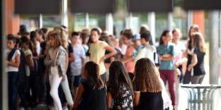 Au collège Léo Ferré de Saint-Lys (Haute-Garonne), le 5 septembre 2017.
