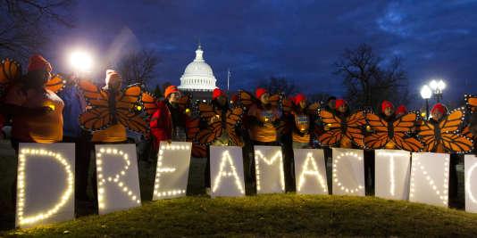 Manifestation de soutien aux« Dreamers», le 21 janvier à Washington.