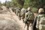 Soldats turcs déployés au nord de la ville de Azaz (Syrie), lors de l'opération militaire baptisée«Rameau d'olivier» par Ankara, le 22 janvier.