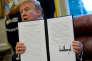 « Des gens vont retrouver du boulot » : le président Donald Trump a approuvé lundi 22 janvier des droits de douane de 30 % sur les panneaux solaires fabriqués hors des Etats-Unis.