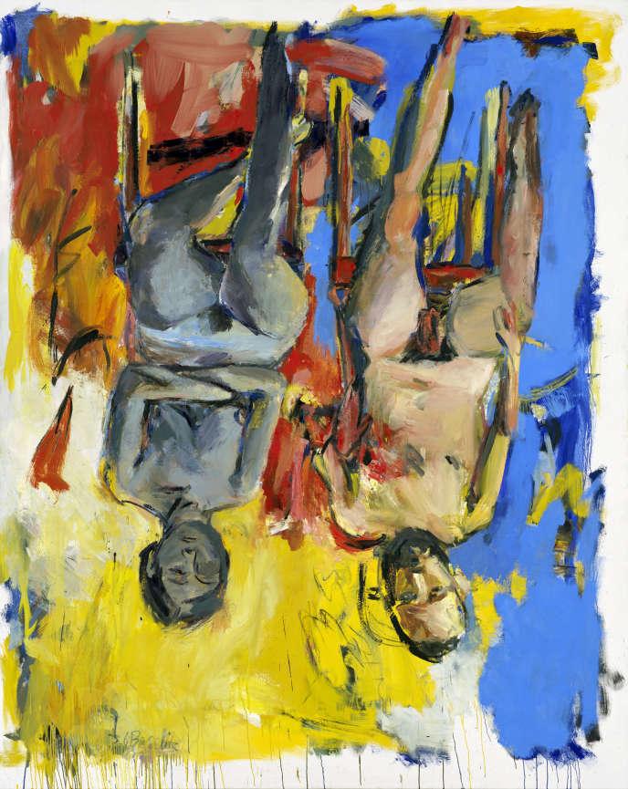 « Chambre à coucher» (1975), huile et charbon sur toile, collection particulière.