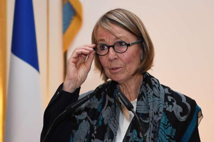 La ministre de la culture, Françoise Nyssen, le 23 janvier.