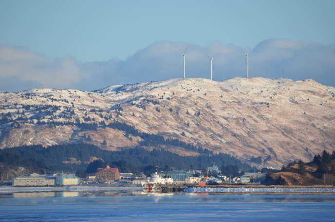 La base des gardes-côtes de l'île Kodiak, dans le sud de l'Alaska, en 2011.