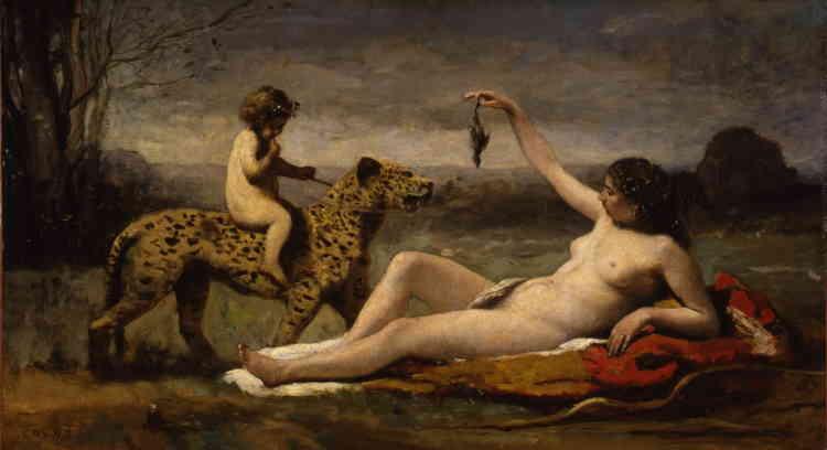 « C'est une des œuvres les plus étranges de Corot, dotée d'un érotisme un peu teinté de sadisme. Les rouges et les bruns y sont particulièrement sensuels. »