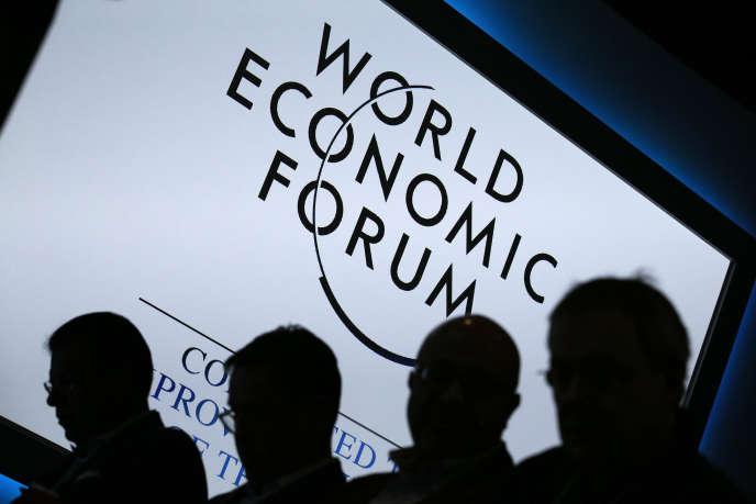 Des participants au Forum économique mondial de Davos (Suisse), le 23 janvier 2013.