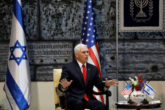 Le vice-président américain, Mike Pence, à Jérusalem, le 23 janvier.