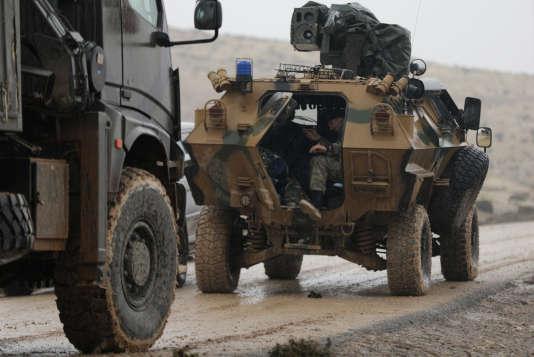 Des forces turques près du mont Barsaya, au nord-est d'Afrin.