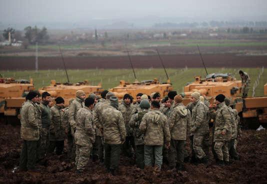 Des soldats turcs à Hatay, le 23 janvier.